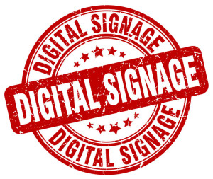 66412107 - digital signage red grunge stamp