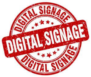 66412107 - digital signage red grunge stamp